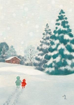 ポストカード〈グリーティング(冬)〉