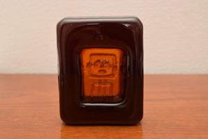 ボダエリック・ホグランアッシュトレイ・ペーパーウエイト(ロボット オレンジスクエア②【BODA/Erik Hoglund】北欧 食器・雑貨 ヴィンテージ | ALKU