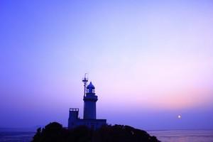 ポストカード  「佐田岬半島の灯台と夕日」 WA-001