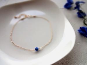【受注生産】一粒の幸福 ブレスレット■14kgf 京都オパール■ブルー