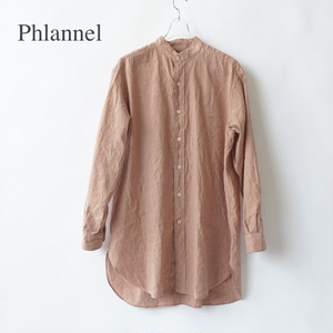 Phlannel/フランネル・American Sea Island Cotton Linen Band Collar Shirt