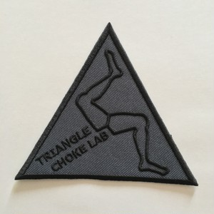 三角絞め研究所のオリジナルパッチ(黒)【送料無料】