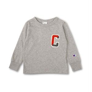 Champion さがら刺繍長袖Tシャツ