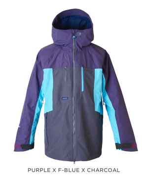 <予約商品> 2019-20 rew THE KAMIKAZE JKT 22 カラー:PURPLE/F-BLUE/CHARCOAL