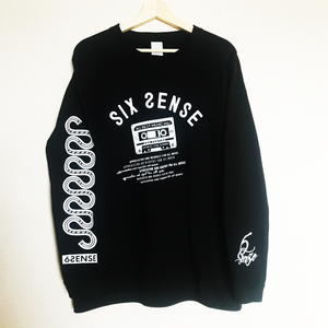 【6SENSE】 Long T-shirt -Cassette tape-