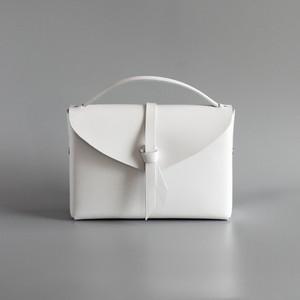 2way box bag slim #white/ 2way レザーボックスバッグ スリム #ホワイト