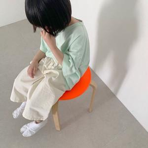 «即納» circle embroidery Tee