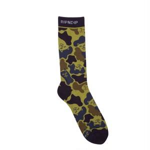 RIPNDIP - Nerm Camo Socks (Tropic Camo)