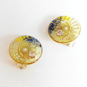 【sunsun】月と星・イヤリング(イエロー)