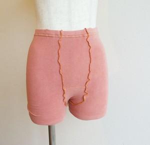 絹コットン1分丈パンツ 冷え取り 茜染め 温活 冷え取り 出産祝い 妊活