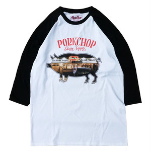 SHOP PHOTO RAGLAN TEE/BLACK