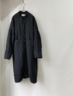 """期間限定:kaval / stand collar open coat """"silk linen""""(カヴァルのシルクリネン素材スタンドカラーオープンコート)"""