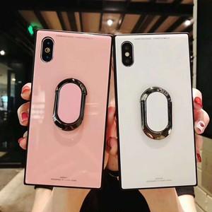 オリジナル アイホンx ケース 背面強化ガラス original iPhone 8カバー リング付き アイフォン7/6plus ケース かっこいい アイフォン6s携帯ケース スタンド機能