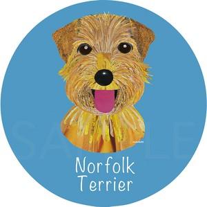 ノーフォーク テリア《犬種名ステッカー/小型犬》