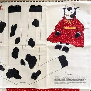 ウシのお人形が作れるクロス Clarabelle USA ビンテージ布