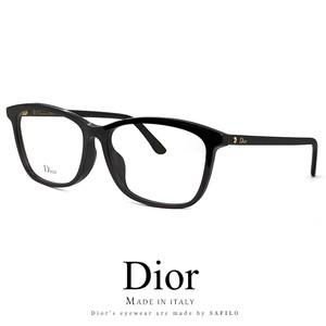 Dior メガネ montaigne55f-807 眼鏡 ディオール Christian Dior クリスチャン ディオール ウェリントン 黒ぶち 黒縁