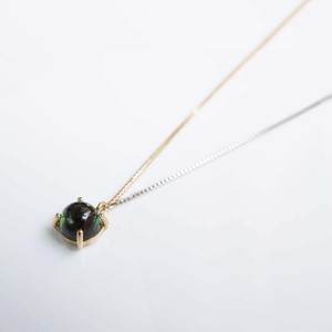 Green Tourmaline Long Necklace