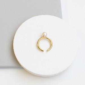 ■pearl ring & cuff -gold-■ パールリング&カフ ゴールド
