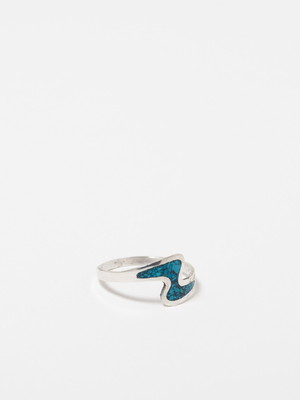 Turquoise Chip Inlay Ring / Mexico