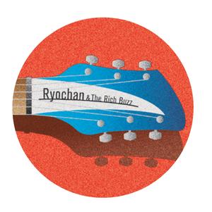 丸型缶バッジ 中 「Ryochan&The Rich Buzz」