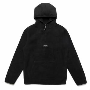 CHRYSTIE NYC OG Logo Polar Fleece Pullover Hoodie black  L