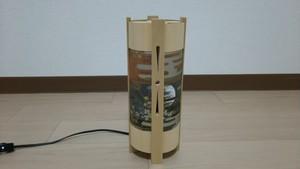 【いやしとやすらぎの空間】を演出する 青森ヒバ 木製 和風 ランプシェード   No.   017