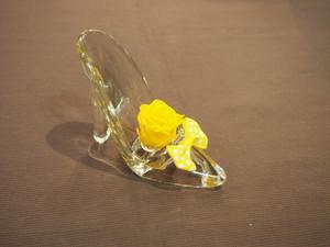 【送料込み】プリザーブドフラワー♡ガラスの靴 S 573