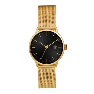 NANDO MINI GOLD【CHPO】 Black dial. Metal mesh wristband