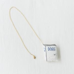 book necklace / dog