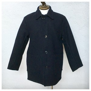 1970s Vintage Donkey Jacket Navy Wool / Made in England