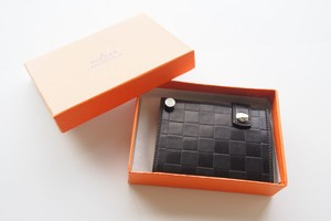 博庵|ヒロアン|HIROAN|コードバン|カードケース|市松模様|ブラック