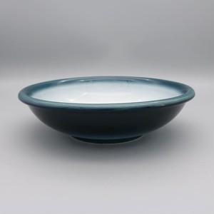 砥部焼 ヨシュア工房 平鉢(中)玉縁 内白
