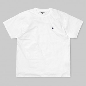 Carhartt S/S Madison T-shirt / White-Blue / サイズM