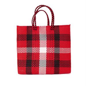 MERCADO BAG 3CHECK - Red x White x Black(M)