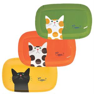 Cuppa(カッパ)猫柄オーバルプレート(皿)