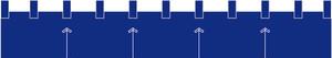 カウンター用防炎のれん:ロイヤルブルー