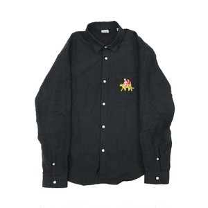 CARNE BOLLENTE EMBROIDERY SHIRT BLACK