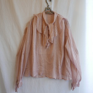 French See-through Blouse Pink