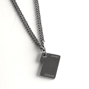 ENTER KEY NECKLACE / SILVER