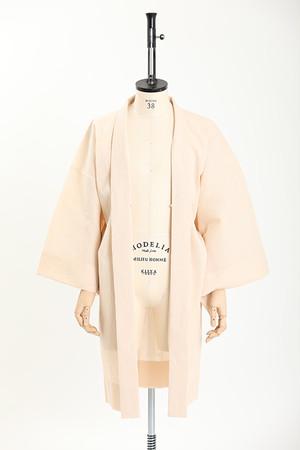 羽織 / 手しぼ / 無地 / Beige(With tailoring)