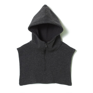 White mountaineering / HOODED NECK WARMER [charcoal]