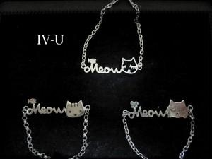 Meow チェーン付きブレスレット
