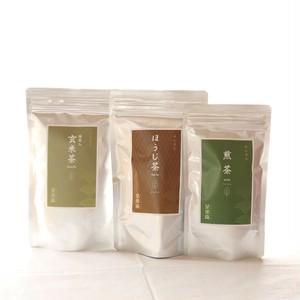 【新茶】日本茶リーフセット(煎茶・ほうじ茶・抹茶入り玄米茶)ラッピング袋付