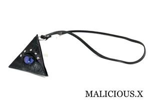 cat eye triangle coin case / purple(mini / crocodile)