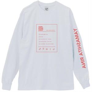 Receipt like sleeve logo long T-shirt