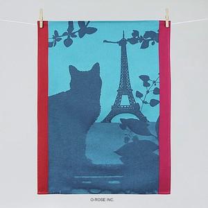 ティータオル パリの猫