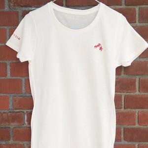 きゅうきょくのインナーTシャツ(白×赤)