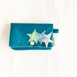 カードケース & 名刺入れ  星  ブルー