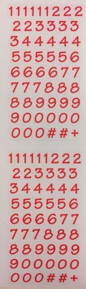 Numbers Bitsy, red