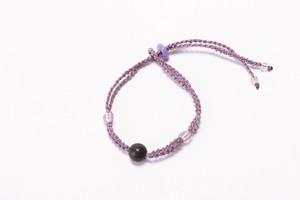富士山溶岩ブレスレット[Lava Bracelet]〜 ラベンダー 〜